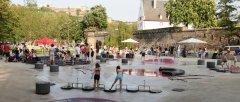 Großzügiger Wasserspielplatz